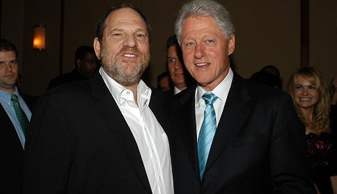 The Clintons are long-time friends of disgraced movie producer Harvey Weinstein. Image Getty