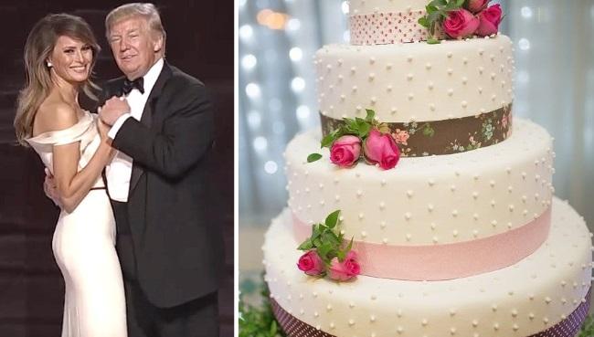 SG Donald Melania Trump Wedding Cake