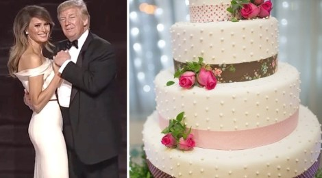 donald melania trump wedding cake