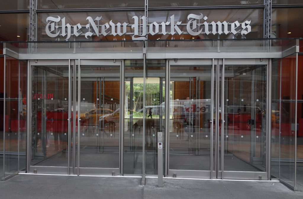 Trump asks New York Times to get rid of phony journalists