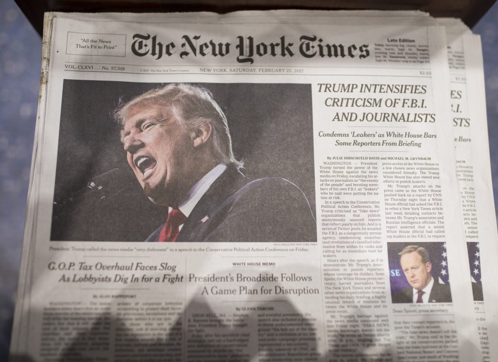 Trump's plea to new NY Times publisher: Treat me 'fairly'
