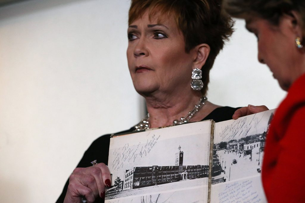 Roy Moore accuser amends part of her account about inscription in yearbook