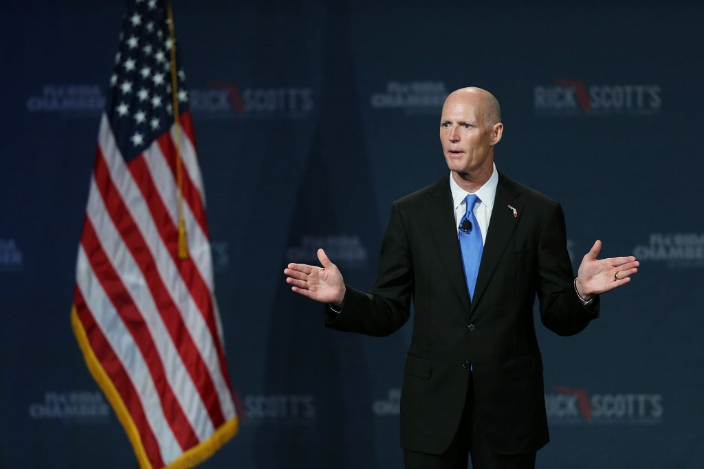 Florida Gov. Rick Scott Uses Trump Model to Launch Senate Bid