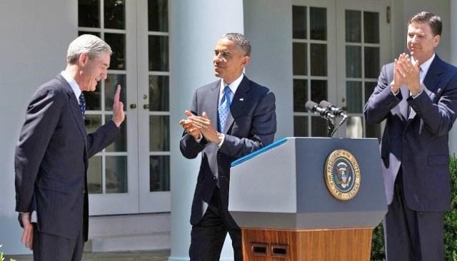 obama applauds robert mueller james comey