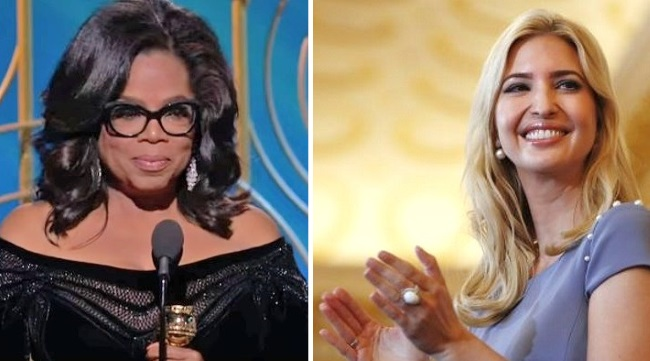 Ivanka Trump got trashed by for complimenting Oprah