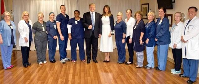melania trump Broward Health North Medical Center