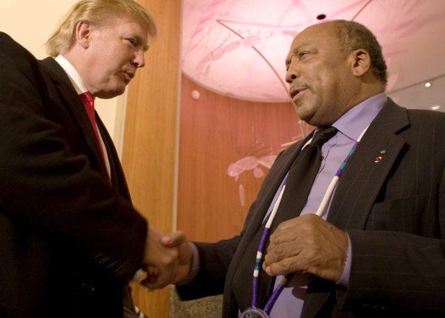 AP Donald Trump, Quincy Jones