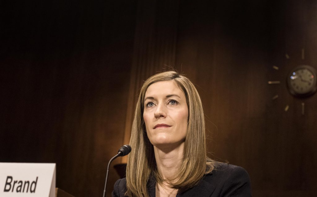 Rachel Brand is stepping down from her Justice Department role