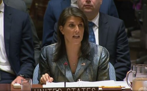 Nikki Haley to Palestinians and the United Nations : 'I will not shut up'