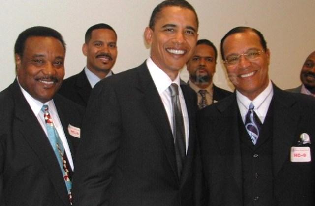 The media buried this 2005 photo of Barack Obama with anti-white, anti-semitic Muslim Louis Farrakhan. (Twitter)