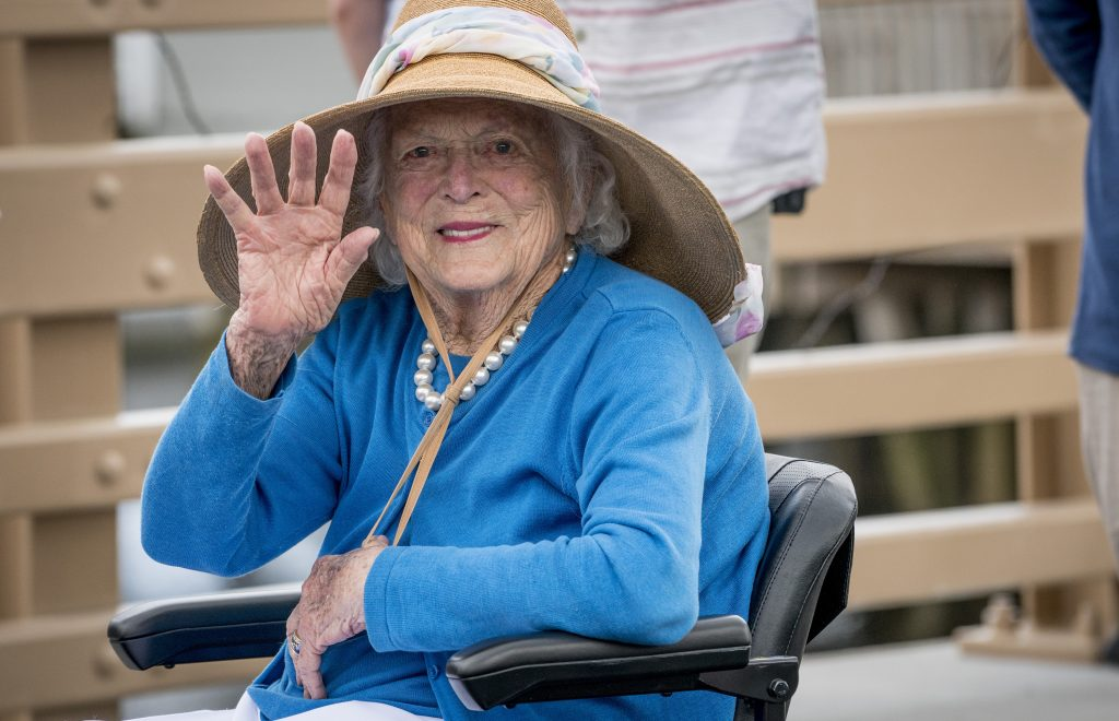 Barbara Bush in great spirits and feisty, source says