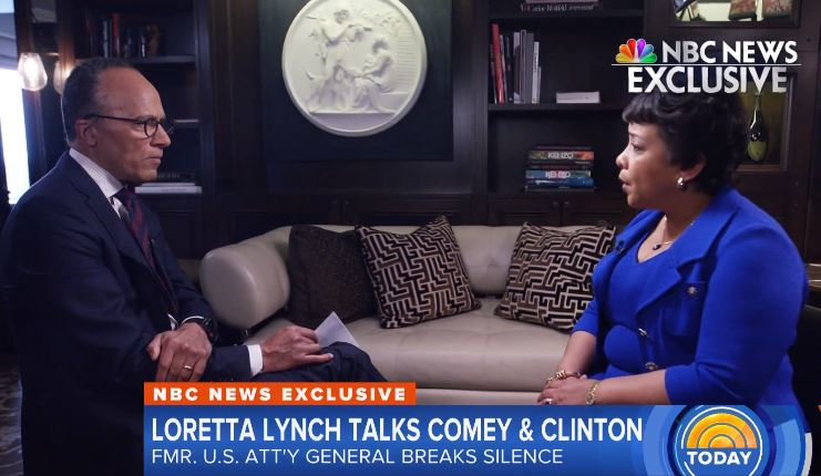 Loretta Lynch has soft NBC interview on Hillary Clinton 'matter'
