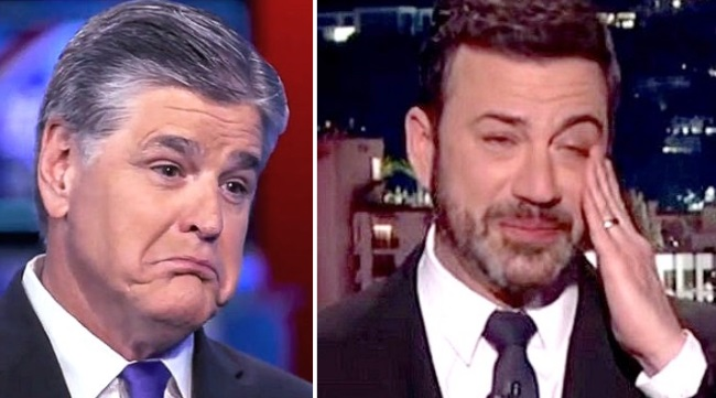 Jimmy Kimmel apologizes for joke involving Trump, Sean Hannity in bed