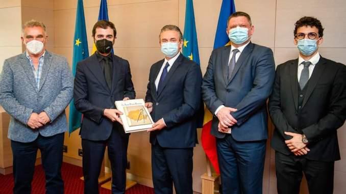 Ministrul Claudiu Năsui și conducerea UNPR. FOTO UNPR
