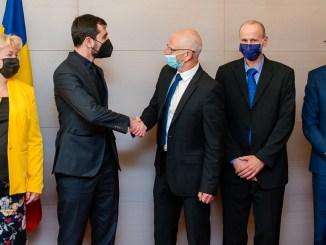 Ministrul Claudiu Năsui s-a întâlnit cu reprezentanții Ambasadei Israelului. FOTO MEAT