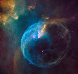 Dunya'dan 7 bin 100 isik yili uzakta (1 isik yili = yaklasik 10 trilyon kilometre) bulunan ve Bubble Nebula' (Kabarcik Bulutsusu) / Fotograf: NASA / ESA