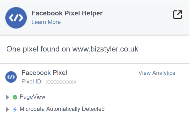 bizstyler-blog-facebook-pixel-helper-chrome