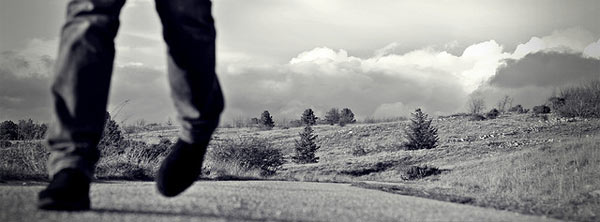 stumbling down