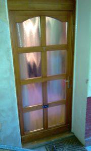 Szabótelep fa bejárati ajtócsere