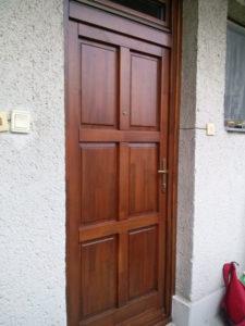 Szépvölgy fa bejárati ajtócsere