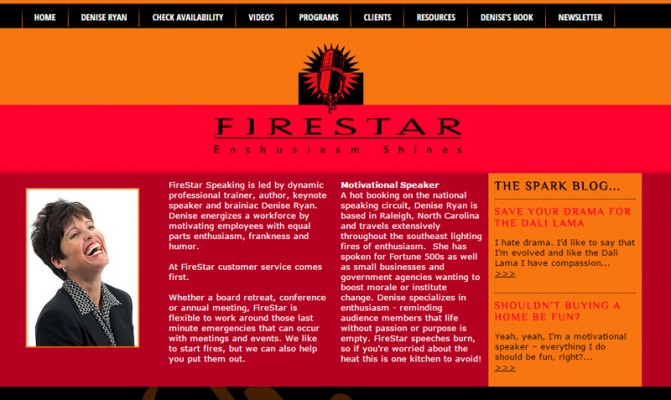 Firestar Speaking Portfolio Biz Tools One Web Design