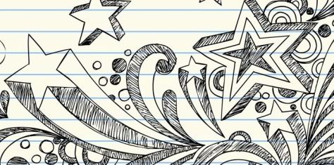 doodling during a meeting