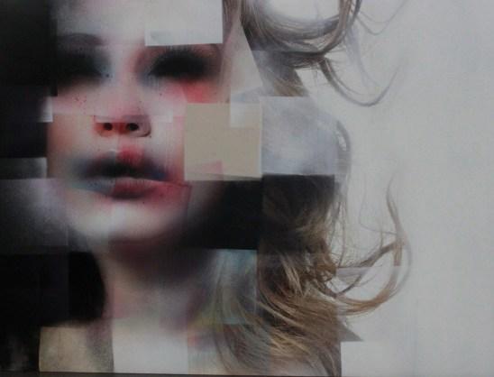 Marco Rea, Untitled, pittura spray su manifesto pubblicitario
