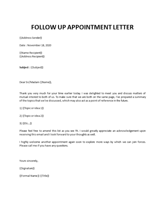 Sample thank you letter after business meeting