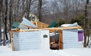 Shed collapses - a victim of the Winter of 2013-14