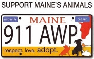 Support Maine pets by getting a customized license plate.