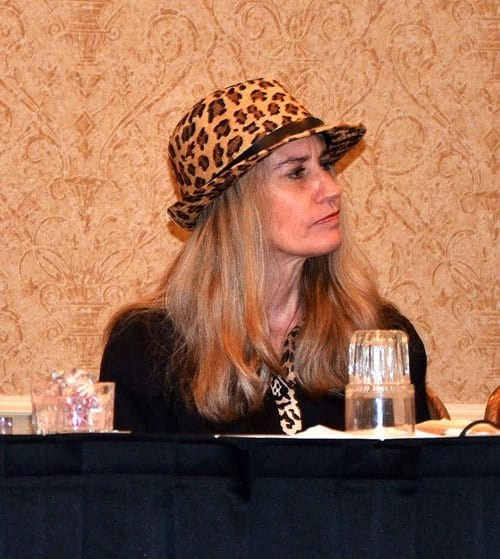 Deborah Barnes presents on a panel about blogging at the 2013 #Cat Writers Association Conference.