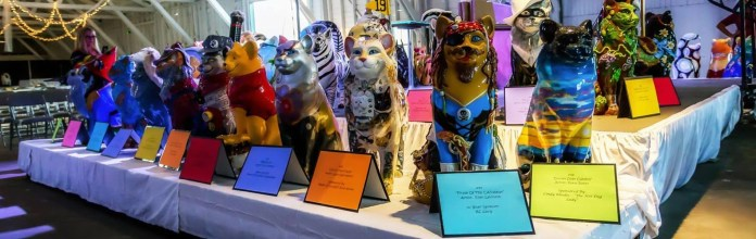 Cats on display at Cat'n Around Catskill Gala Auction, Sept. 12, 2021