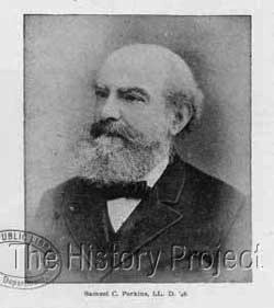 Photo of Samuel Perkins, the reason the cats are included in the 250 sculptures at Philadelphia City Hall.