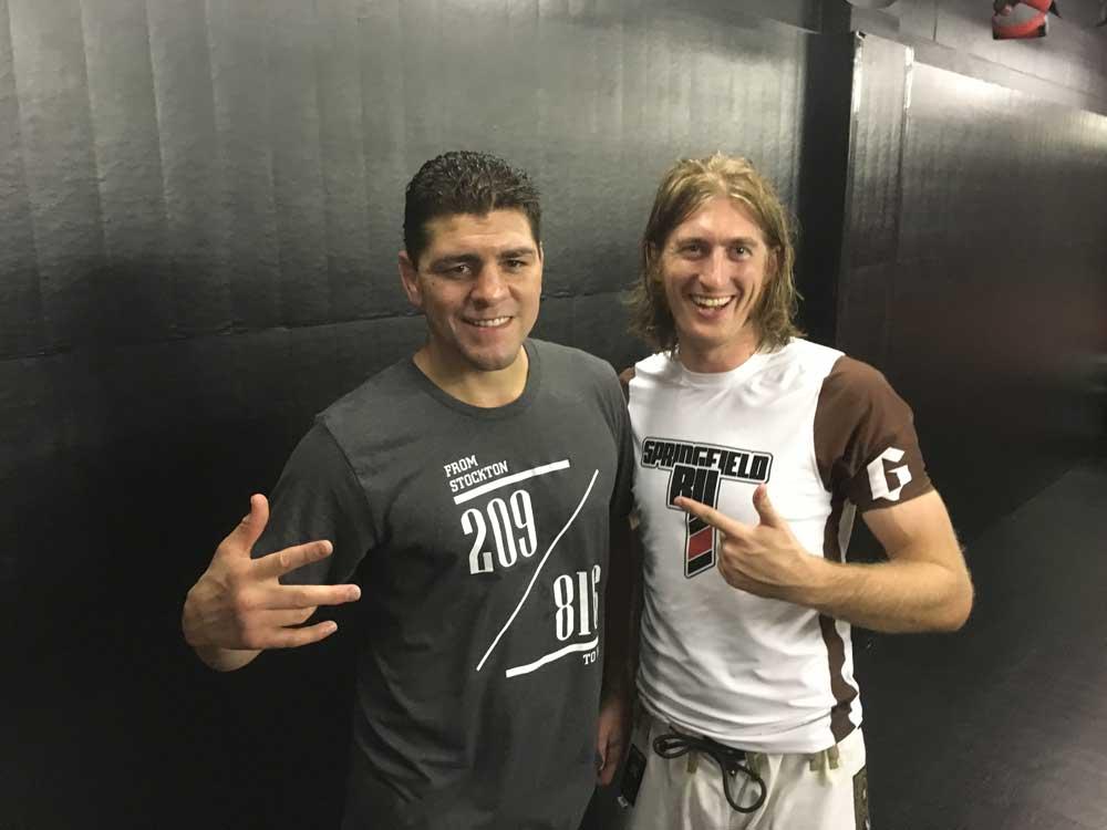 Nick Diaz And Lucas Walker After BJJ Seminar Learning Jiu Jitsu