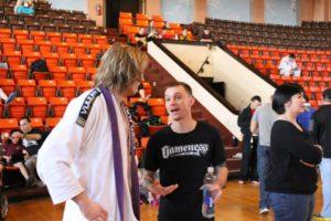 Lucas Walker Talking With Brian Stuebner After BJJ Competition