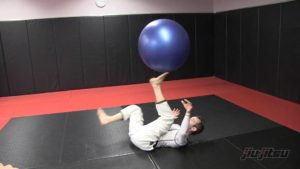 Jeff Glover On His Back With Stability Ball