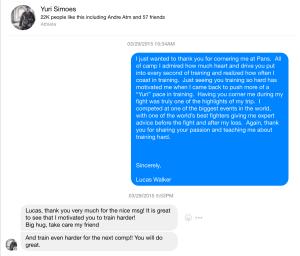 Yuri Simoes Facebook Message With Lucas Walker