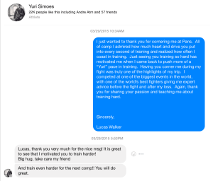 Yuri Simoes Facebook Message With Lucas Walker