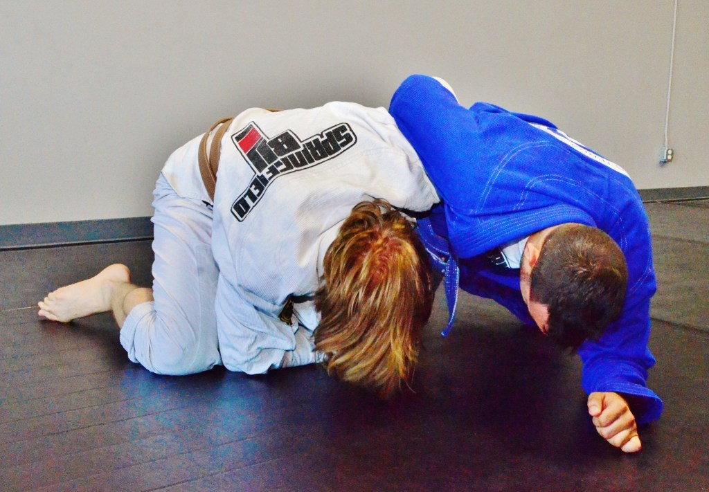 Eyes Closed While Rolling BJJ head down
