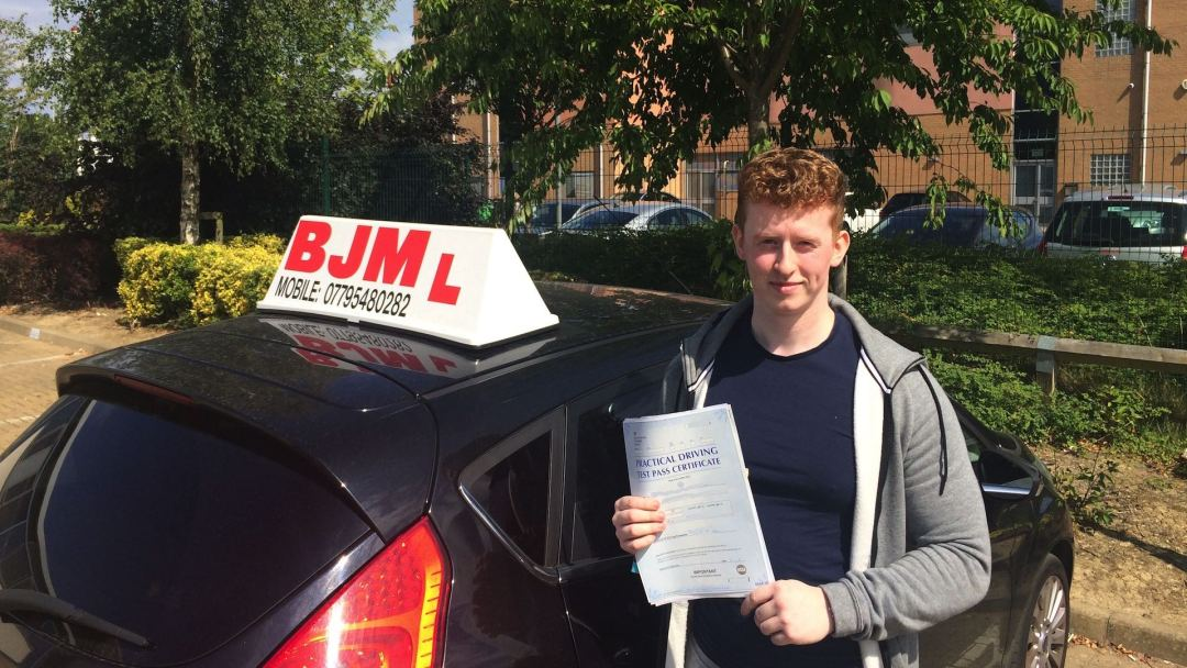Two test passes, Two passes well done lads, BJM School of Motoring