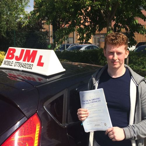 BJM School of Motoring, Bradford's first choice of driving for excellence. BJM Drivings Lessons Bradford Call: 07795480282 21st May Pass 2