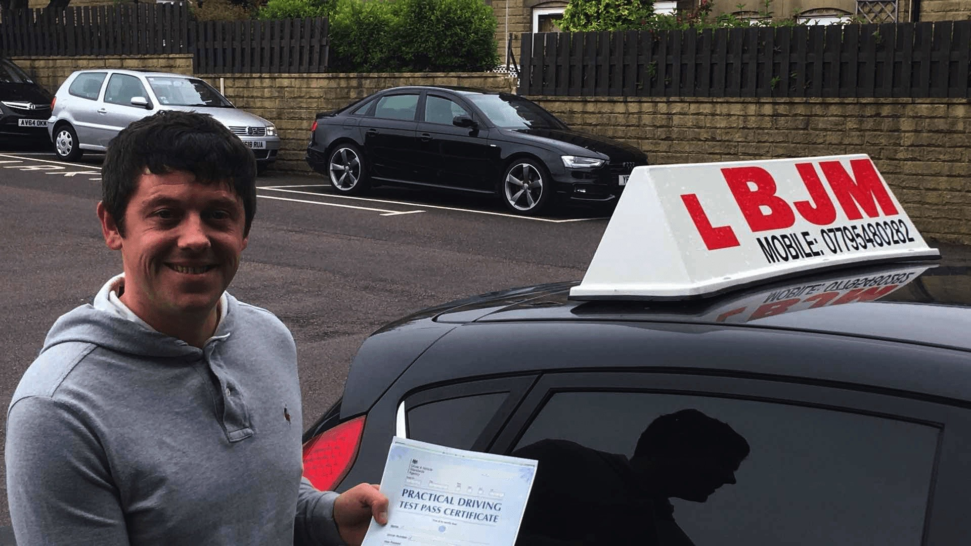 Congratulations John, Congratulations John, BJM School of Motoring, BJM School of Motoring