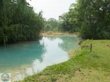 Blaue Wasserfälle