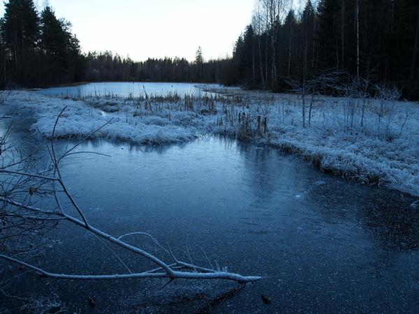 Myrertjern om vinteren (foto: Sven Brun)