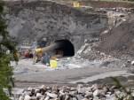 Tunnellåpning for nordre tverrslag. (foto: Sven Brun)