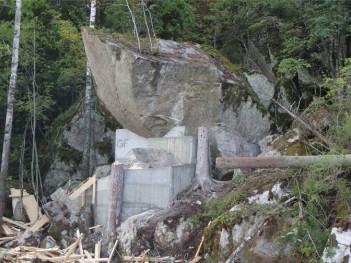 Skråningen ved Stensrudåsveien sikret (foto: Jernbaneverket)