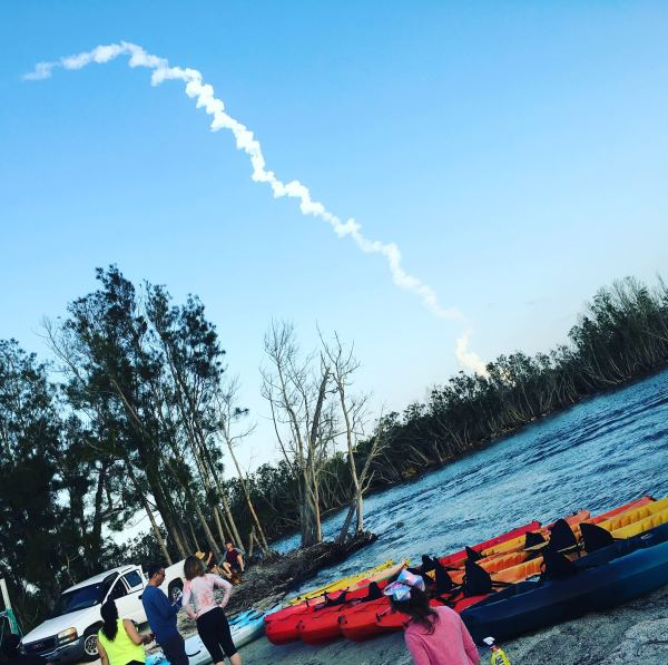 Rocket Launch from Merritt Island Wildlife Refuge Florida