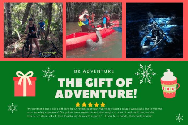 Gift Certificates BK Adventure Florida