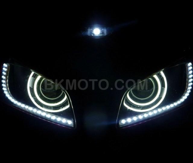 2013 2016 Honda Cbr 600rr H1 Hid Bixenon Projector Headlights Kit With Angel Eyes Halo
