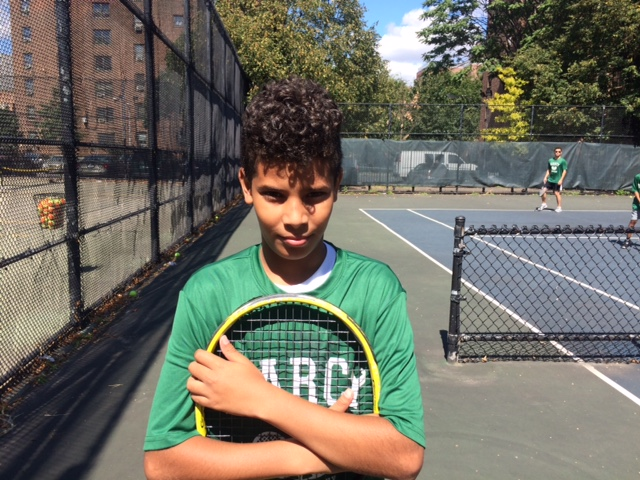 12-year-old Jonathan Del Rosario has received a scholarship for the McCarren Tennis Academy and will begin competing in USTAR tournaments this fall.